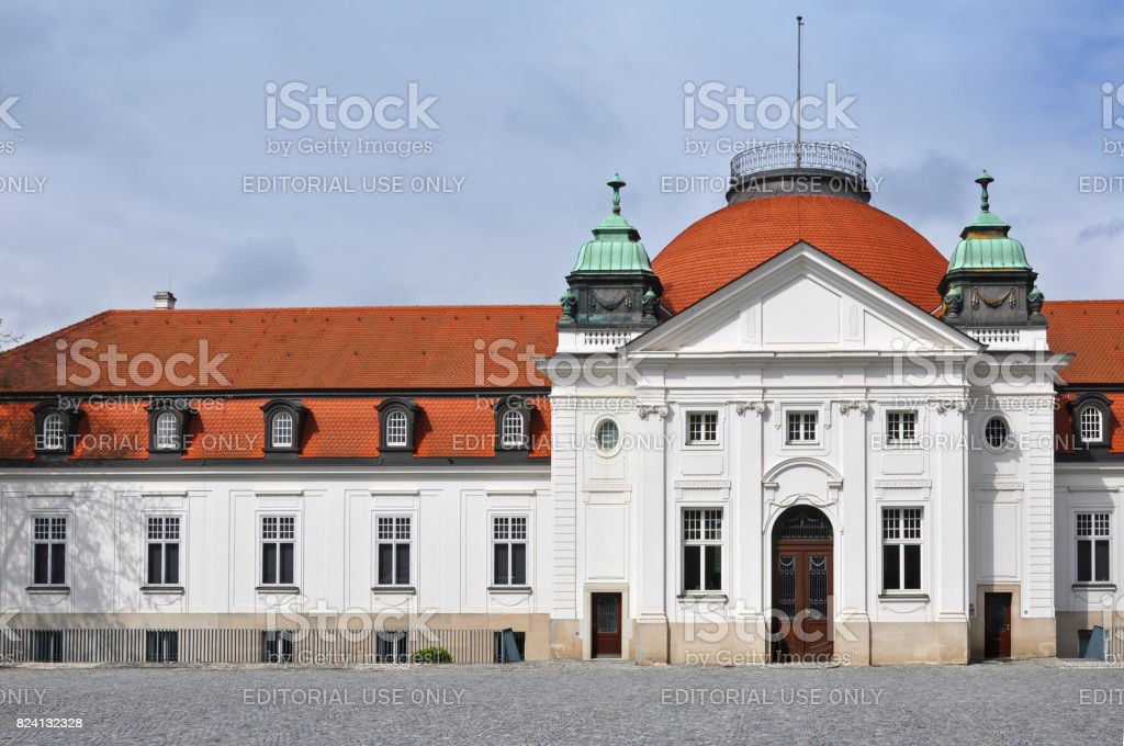 The National Schiller Museum in his hometown Marbach on Neckar, Baden-Wurttemberg, Germany. Front view of facade. stock photo