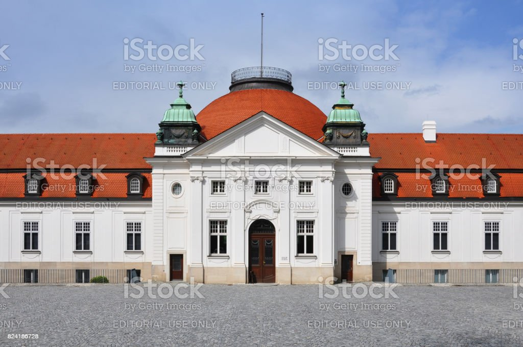 The National Schiller Museum in his hometown Marbach on Neckar. stock photo