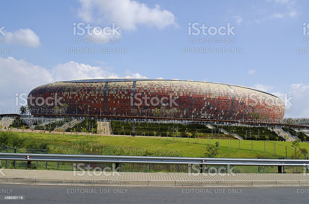 The National Stadium stands outside Soweto in Johannesburg. - stock photo