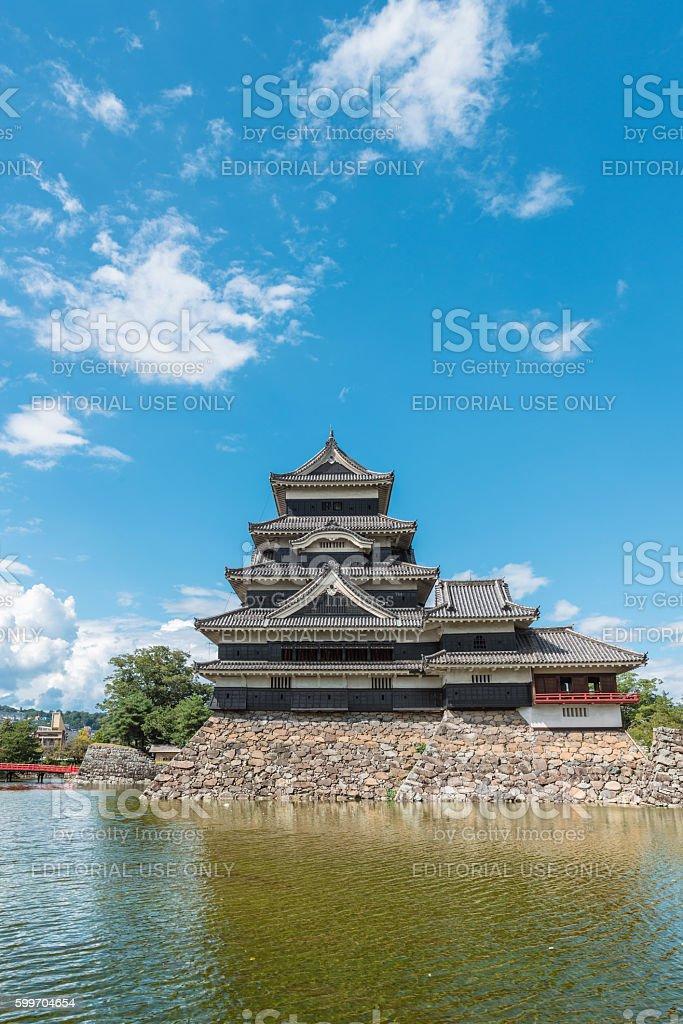 The national treasure Matsumoto castle tower stock photo