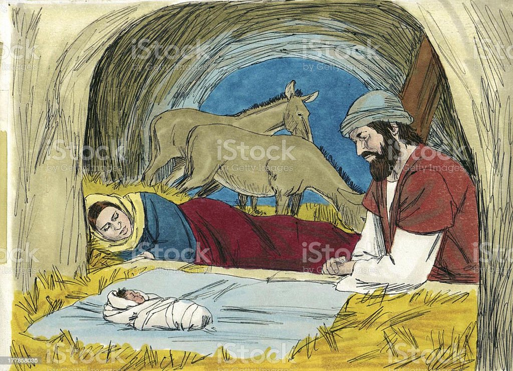 The Nativity stock photo
