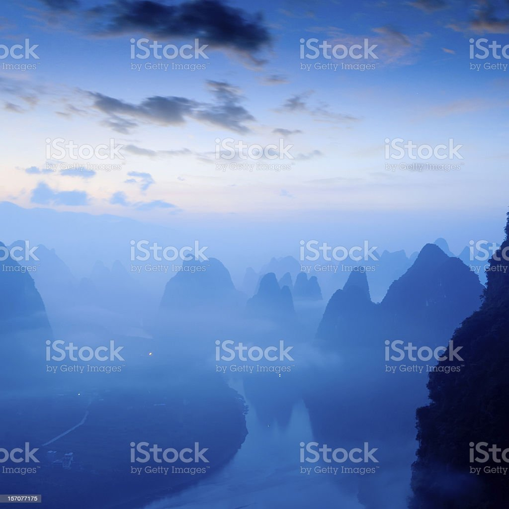 The natural scenery in Guilin stock photo