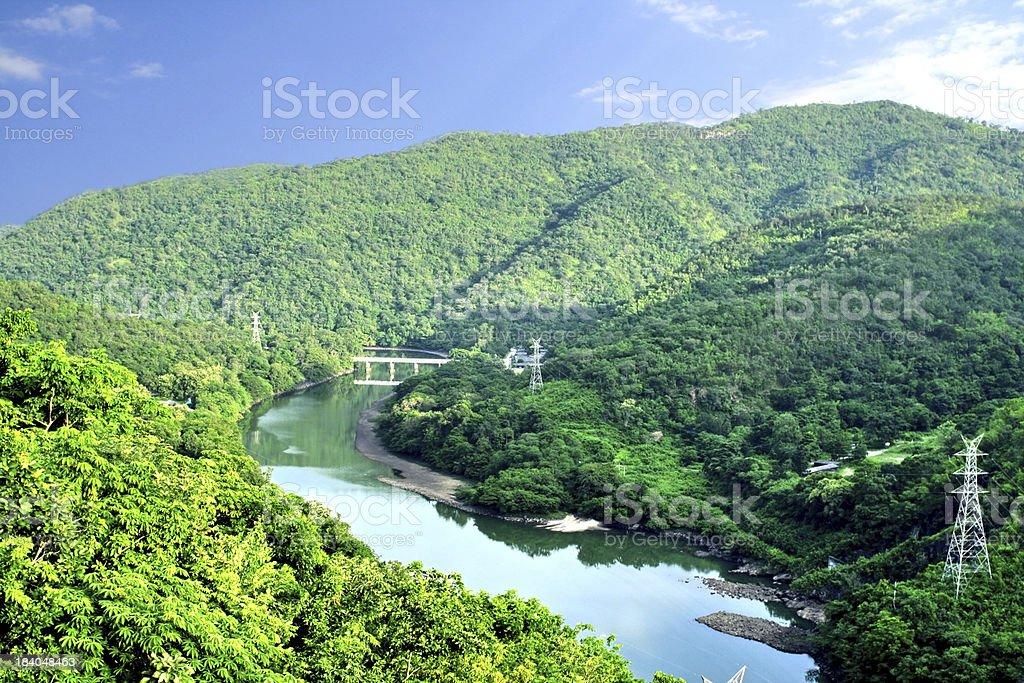 The nature around Bhumibol Dam stock photo