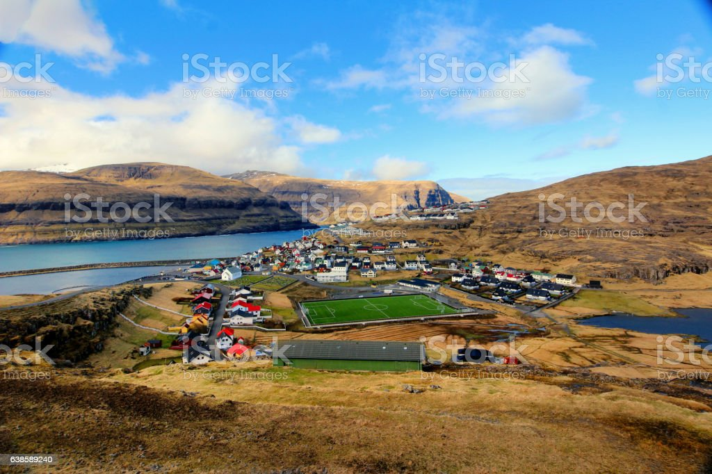 The nature of the Faroe Islands stock photo