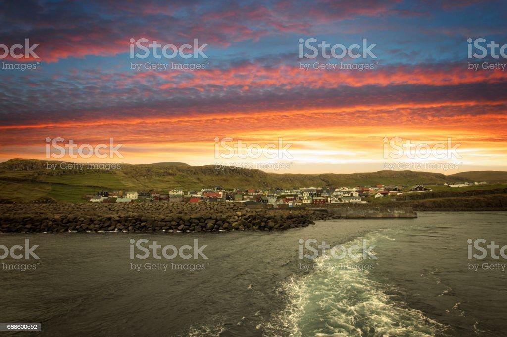 The nature of the Faroe Islands stock photo
