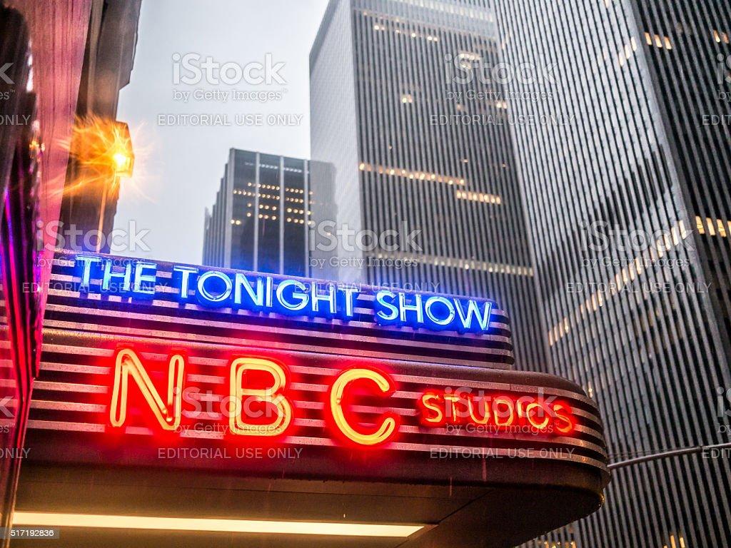 The NBC Studios stock photo