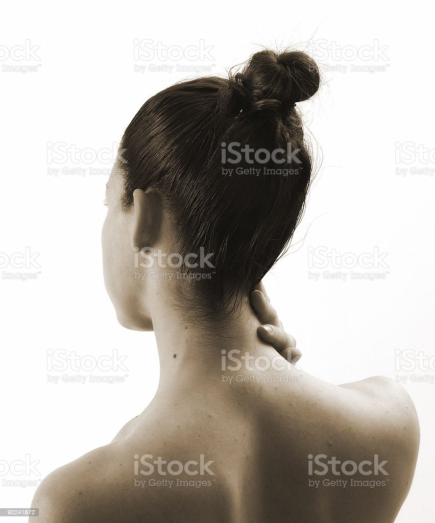 The neck royalty-free stock photo