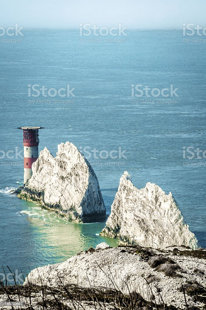 The Needles, Isle of Wight, England stock photo
