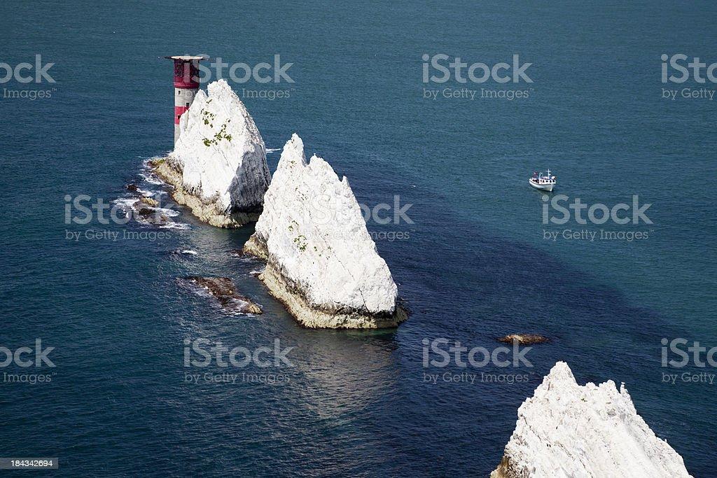 The Needles, Isle of Wight stock photo