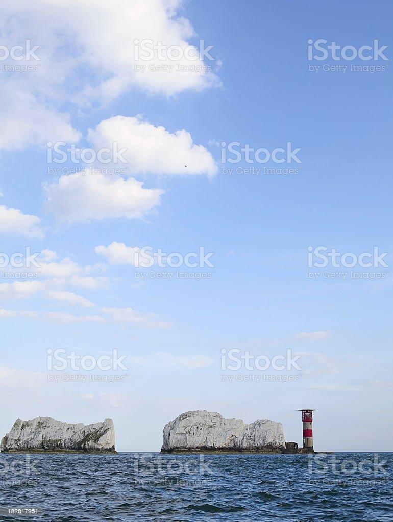 The Needles Lighthouse stock photo
