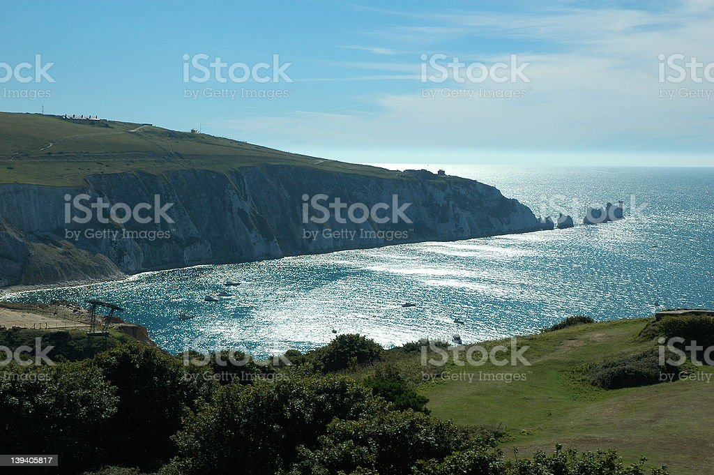 The Needles on a Sunny Day. stock photo