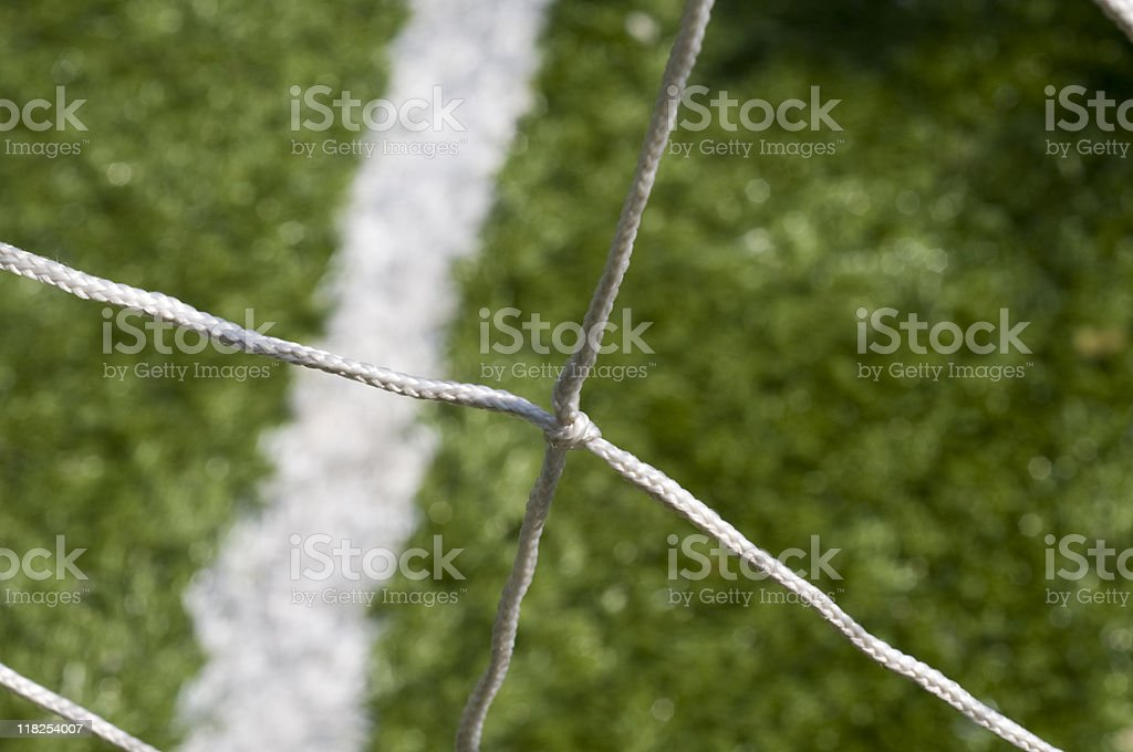 The net of a soccer goal, close up, Turkey, Istanbul royalty-free stock photo