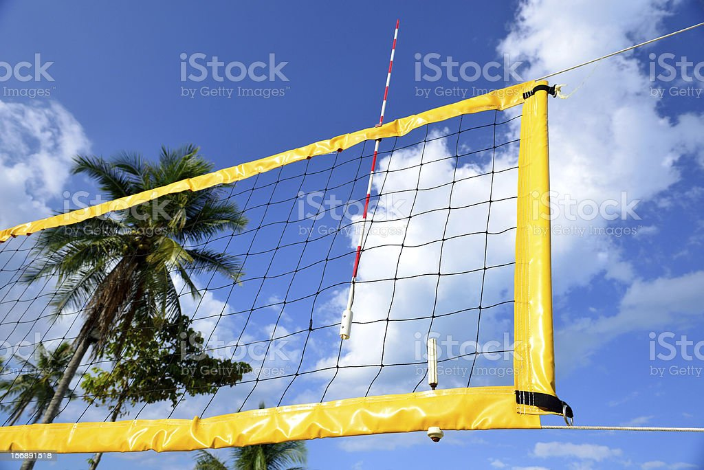 The net of beach volleyball. royalty-free stock photo