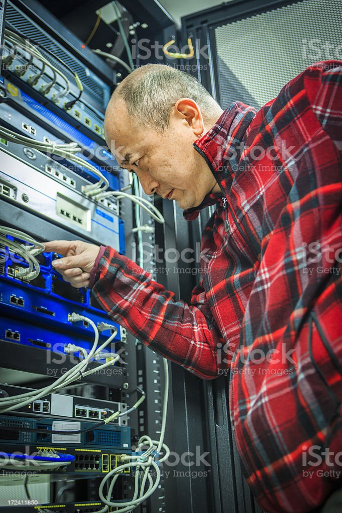 The network administrator was confused for his work royalty-free stock photo