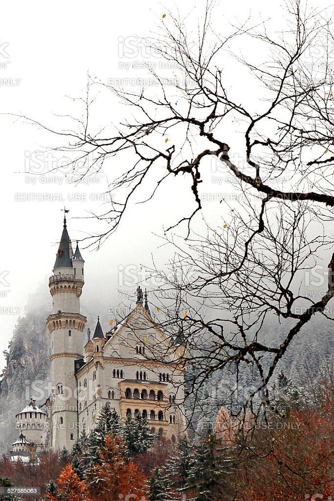 The Neuschwanstein Castle stock photo