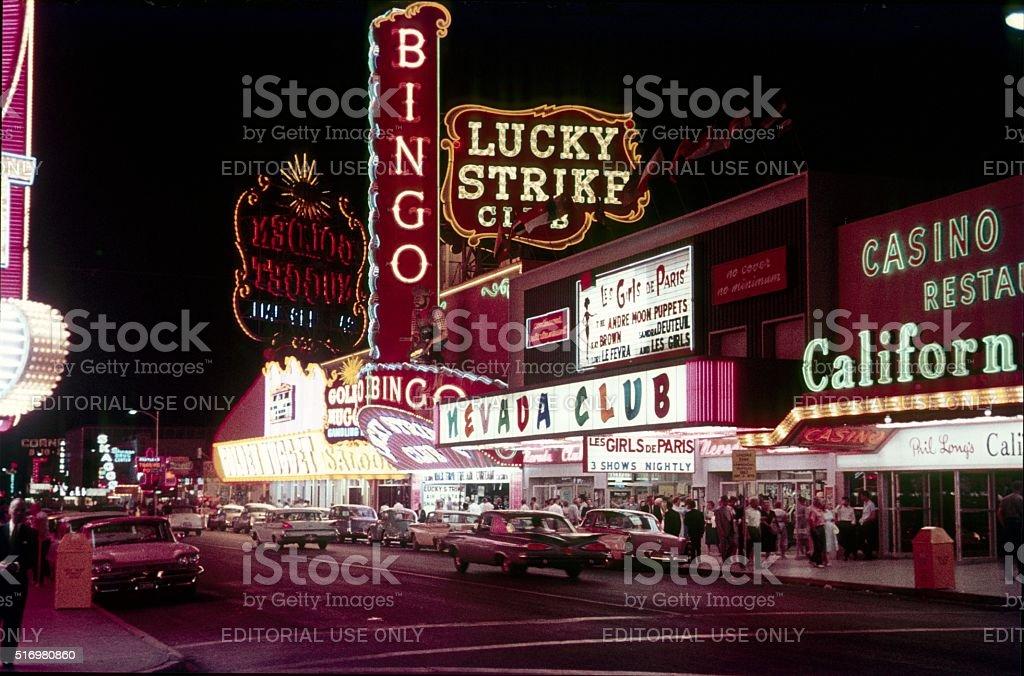 The Nevada Club in Las Vegas, 1962 stock photo