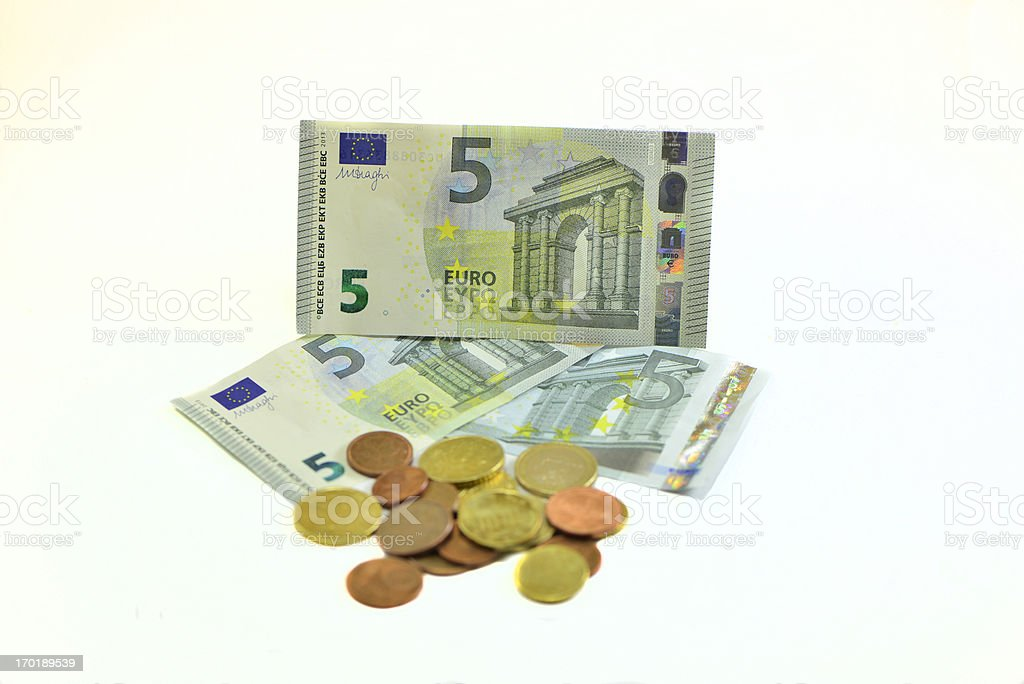 The New 2013 Five Euro Banknote Bill stock photo