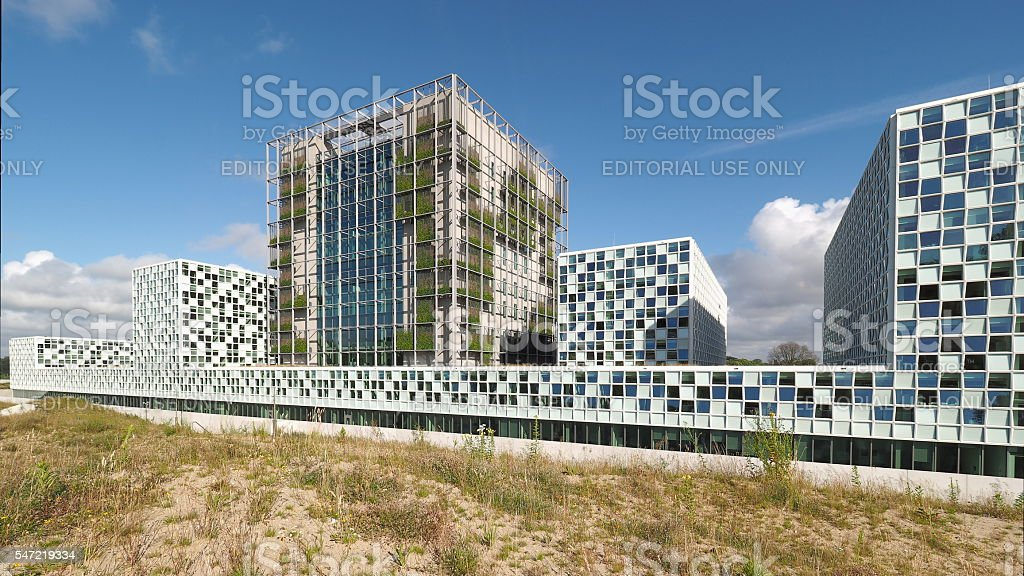 The new 2016 opened International Criminal Court building stock photo