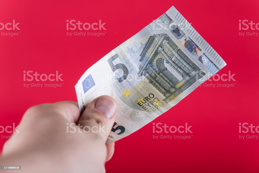 The New 5 Euro Banknote royalty-free stock photo