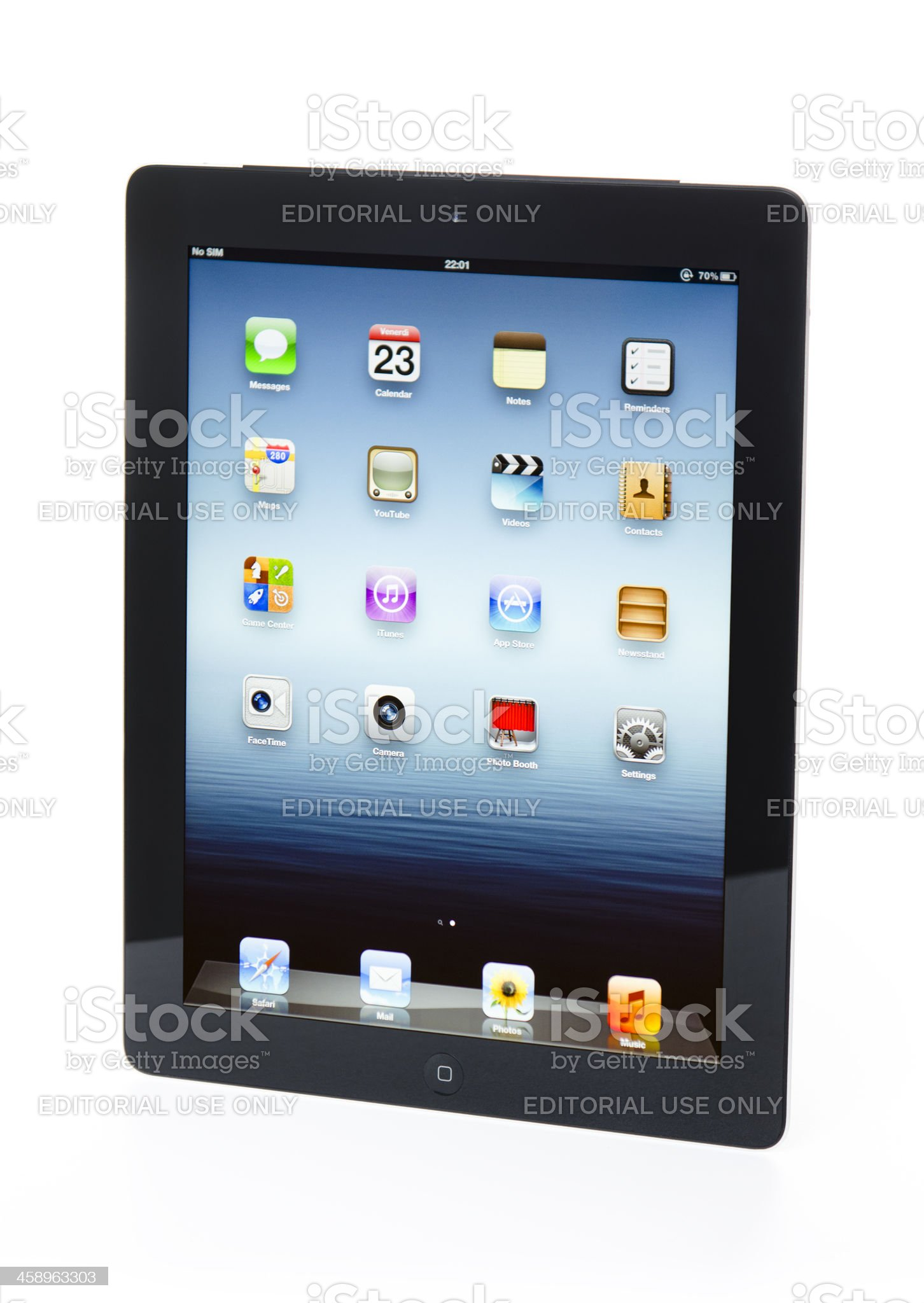 The new Apple Ipad 3 black version on a table royalty-free stock photo