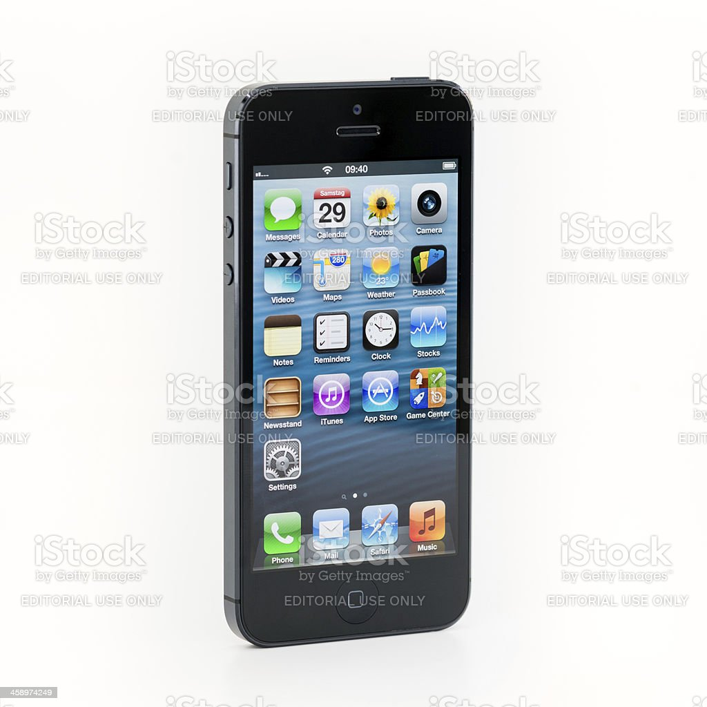 The new Apple iPhone 5 Black 64GB royalty-free stock photo