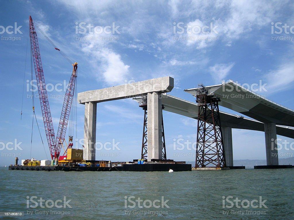 The New Bay Bridge royalty-free stock photo