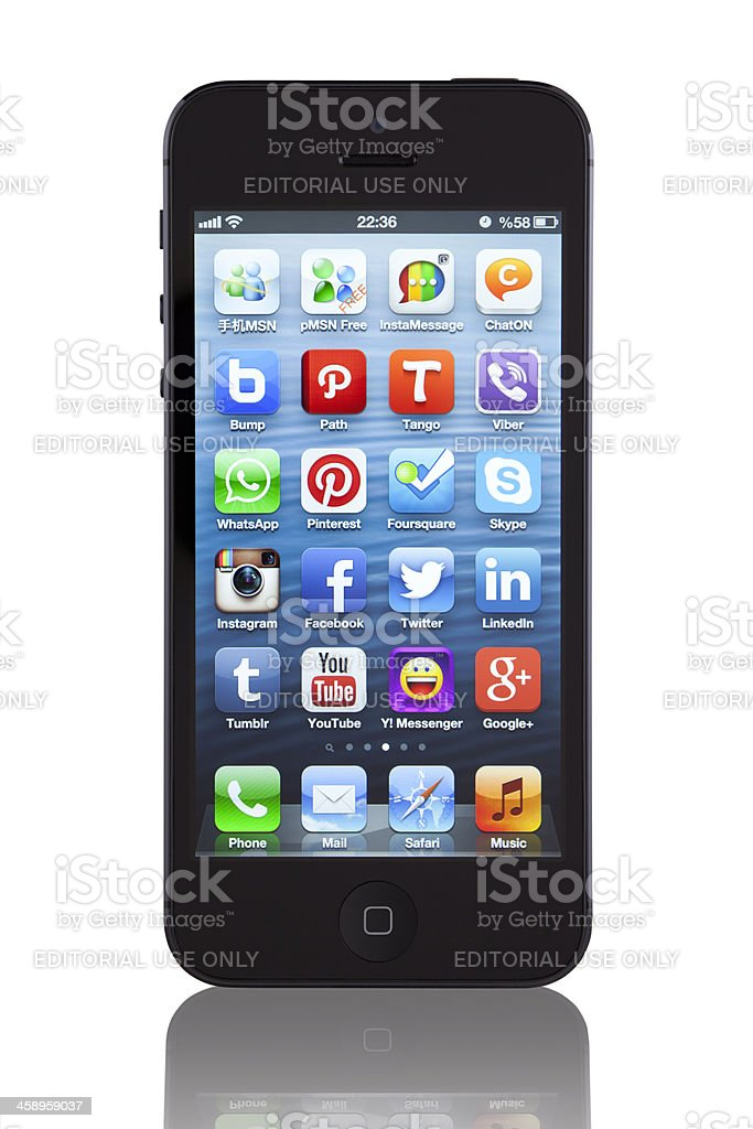 The New Black Apple iPhone 5 stock photo
