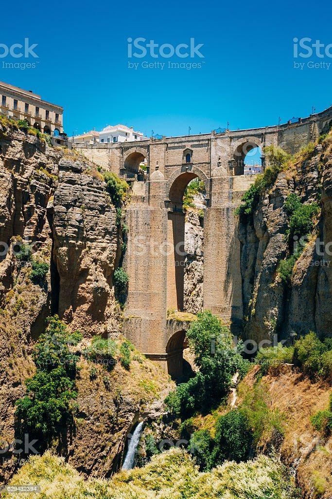 The New Bridge (Puente Nuevo) in Ronda, Province Malaga, Spain stock photo