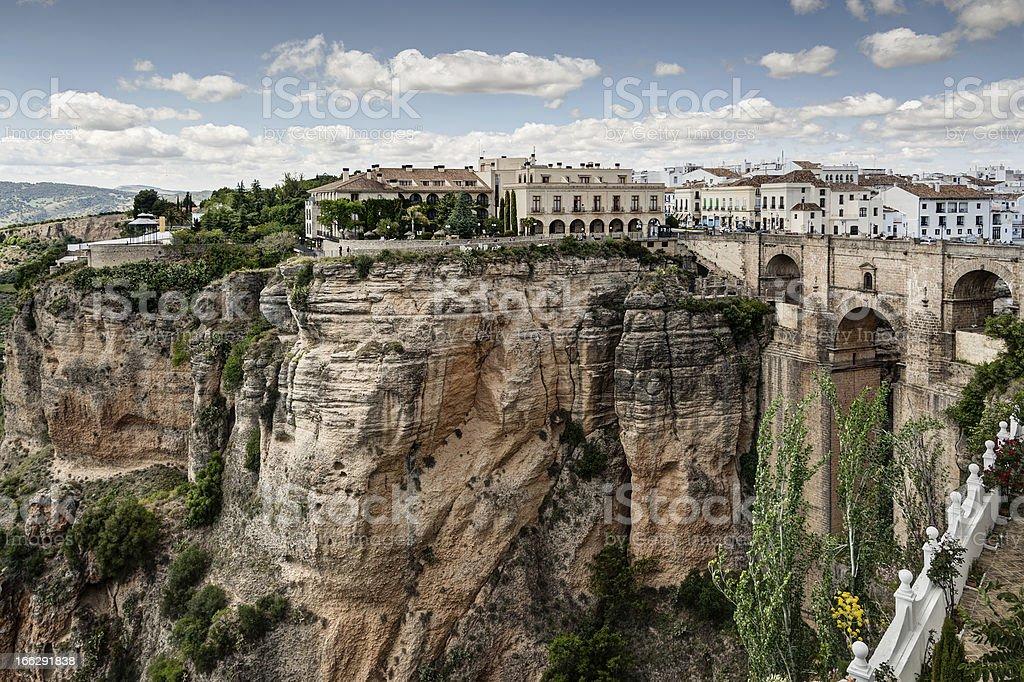 The New Bridge Ronda stock photo