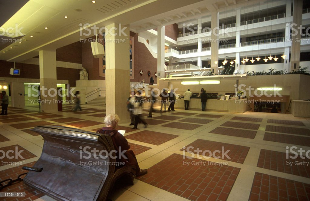 The New British Library royalty-free stock photo
