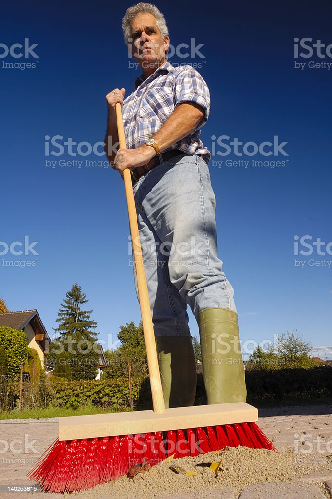 The new broom sweeps clean stock photo