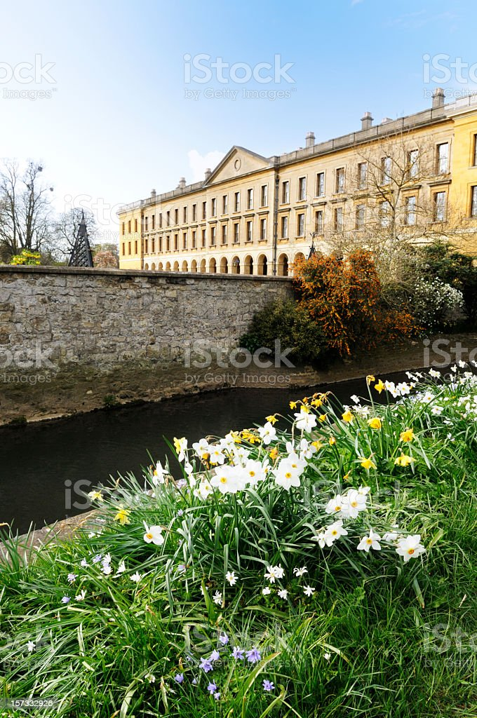 The New Building Oxford Magdalen College (1733) royalty-free stock photo
