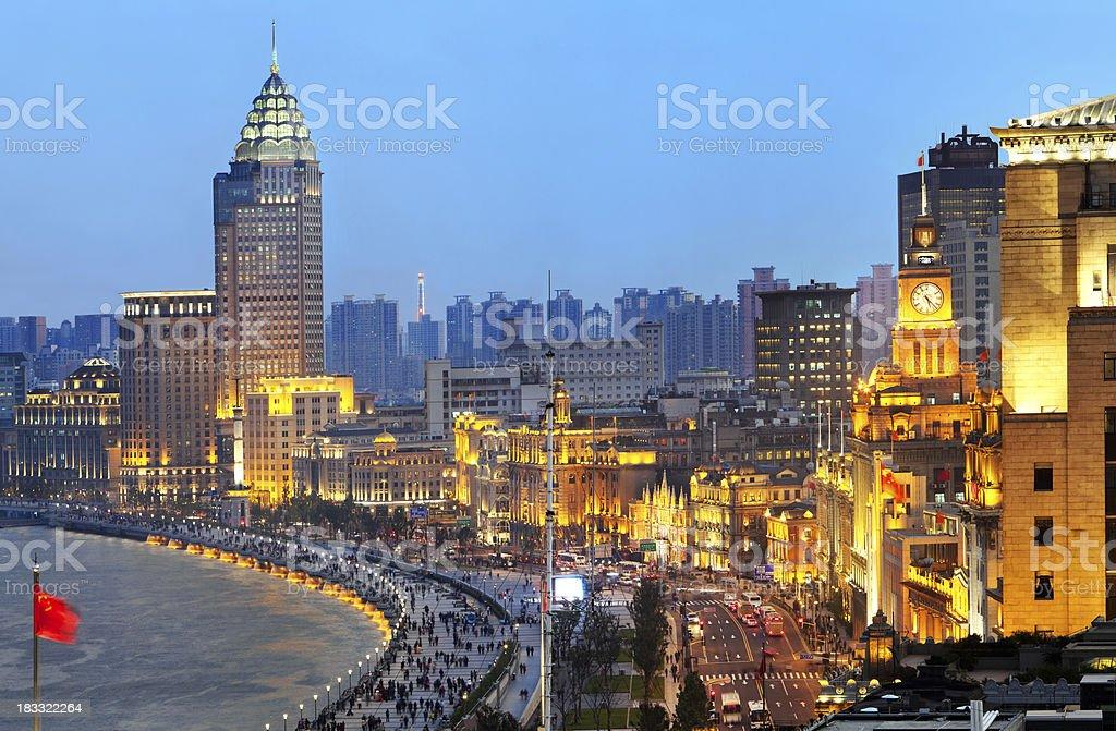 The New Bund in Shanghai, China stock photo