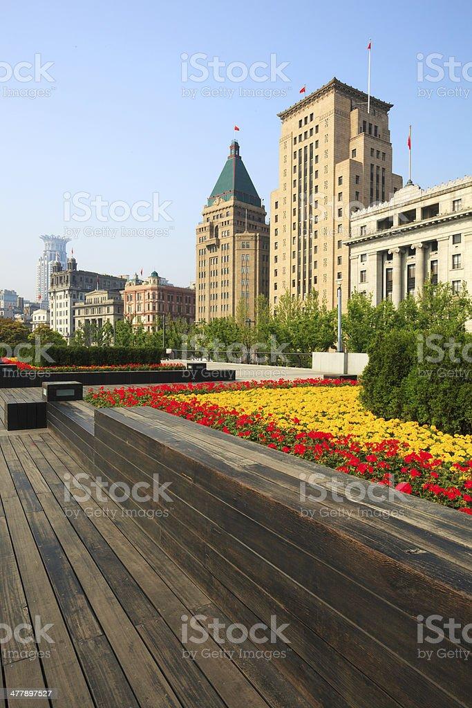 The new bund in Shanghai,China stock photo