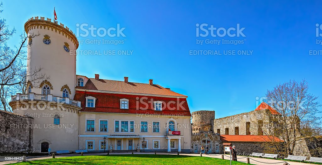 The New Castle, Cesis, Latvia stock photo
