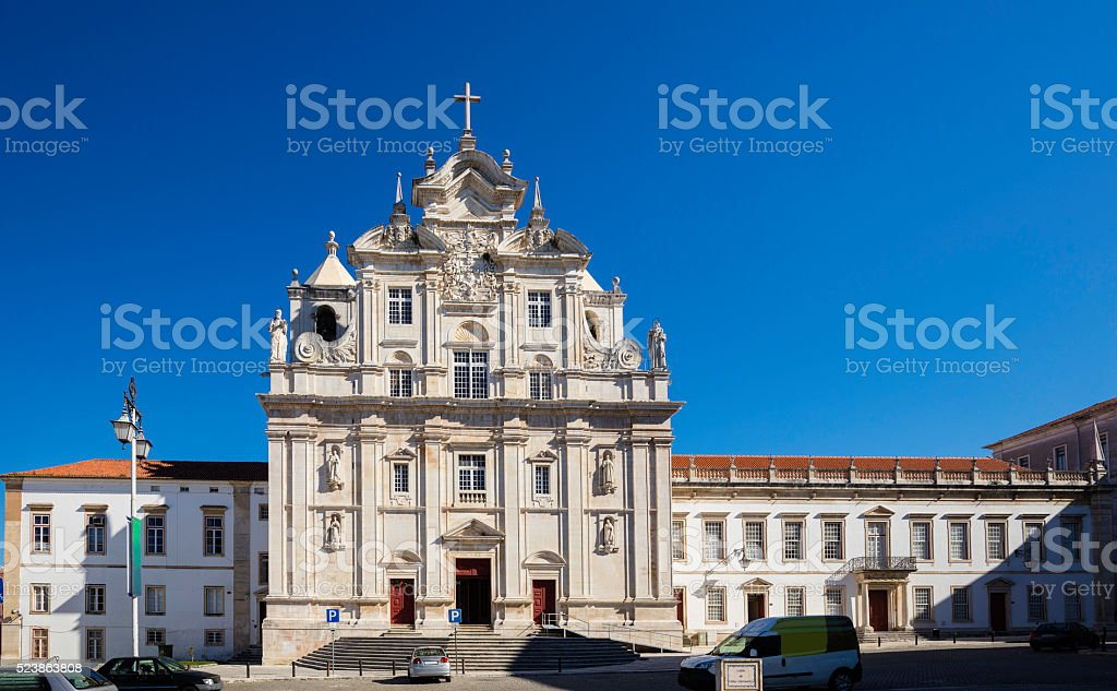 The New Cathedral of Coimbra stock photo