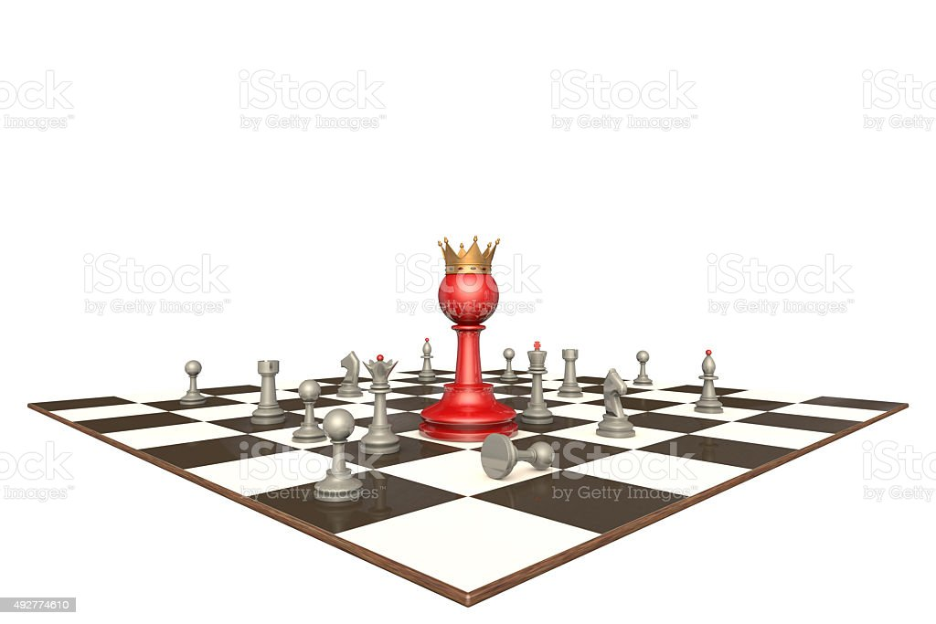 The new chief (chess metaphor) stock photo
