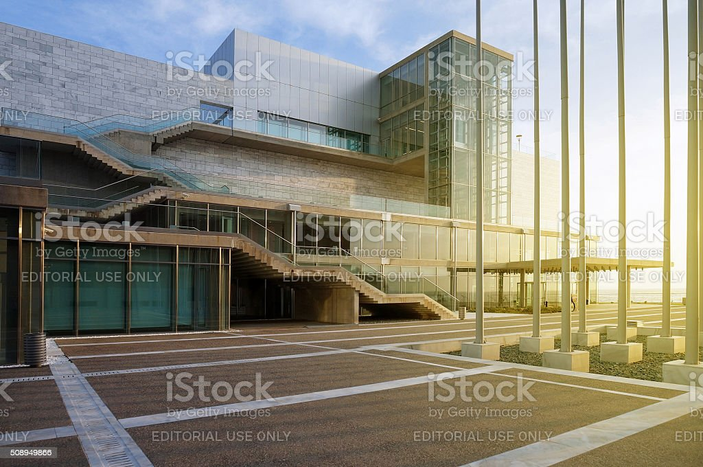 The New Concert Hall of Thessaloniki stock photo