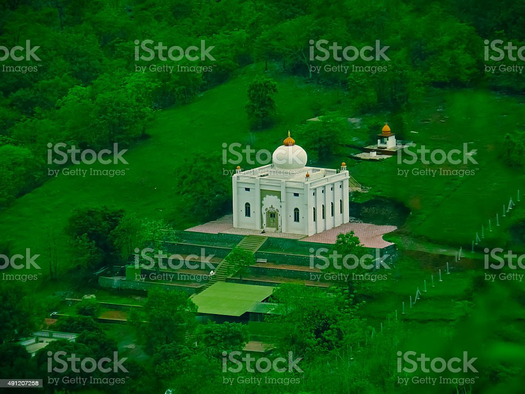 The new Earth Peace Temple at the Siddhanath Forest Ashram stock photo