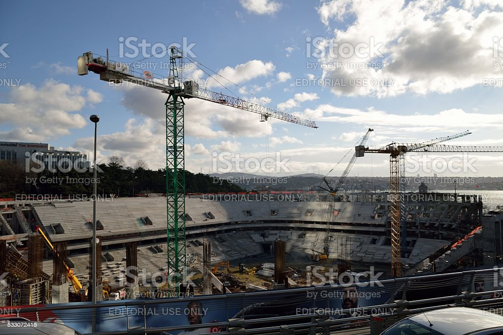 The new Football Stadion in Istanbul stock photo