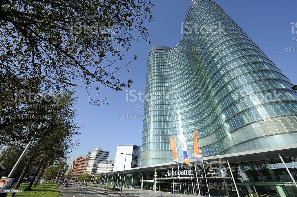 The new headquarters of Rabobank Nederland in Utrecht stock photo