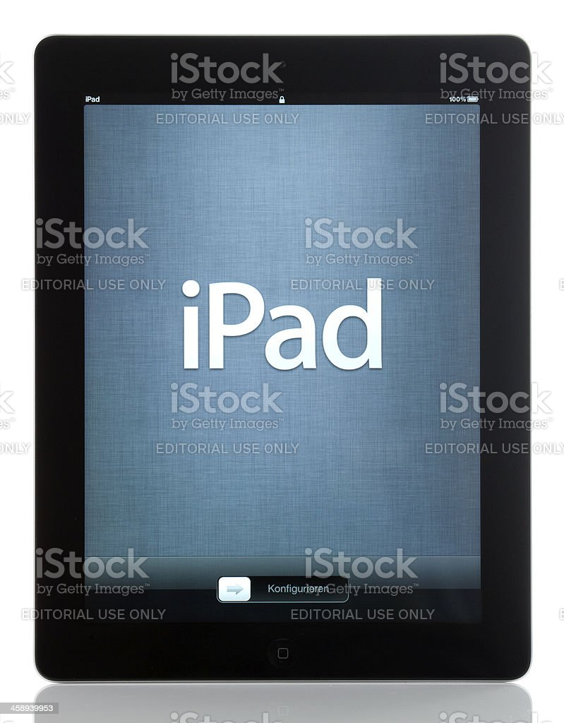 The new iPad 3 by Apple royalty-free stock photo