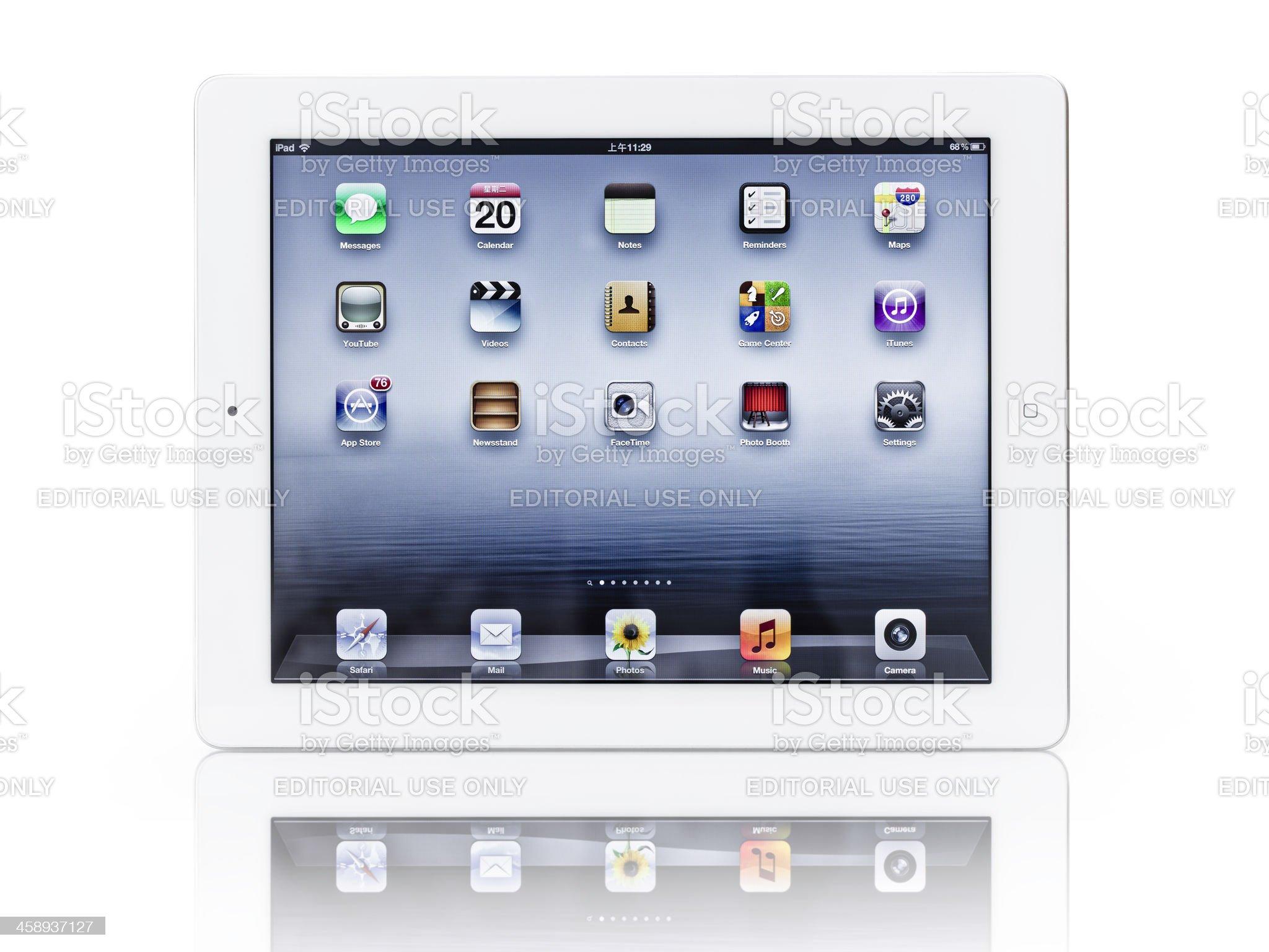 The New iPad 3 royalty-free stock photo