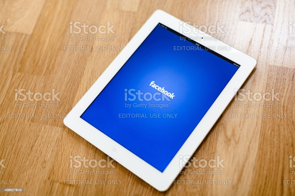 The New iPad, Facebook App royalty-free stock photo