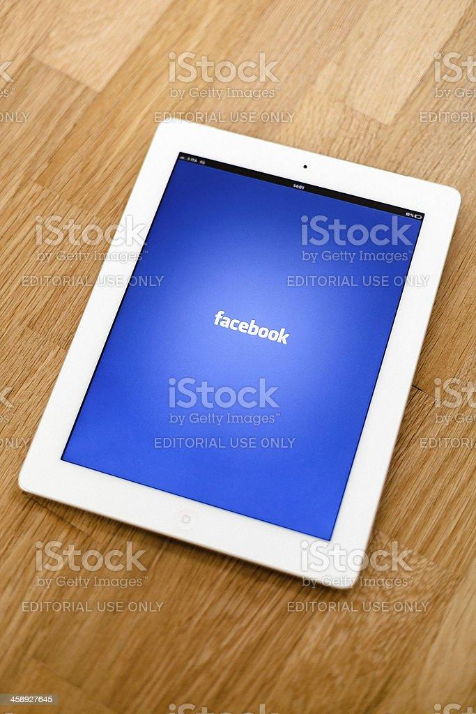 The New iPad, Facebook App royalty-free stock photo