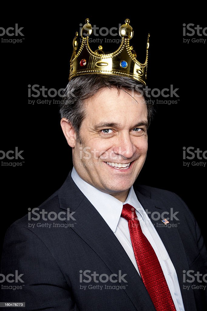 The new king of business royalty-free stock photo