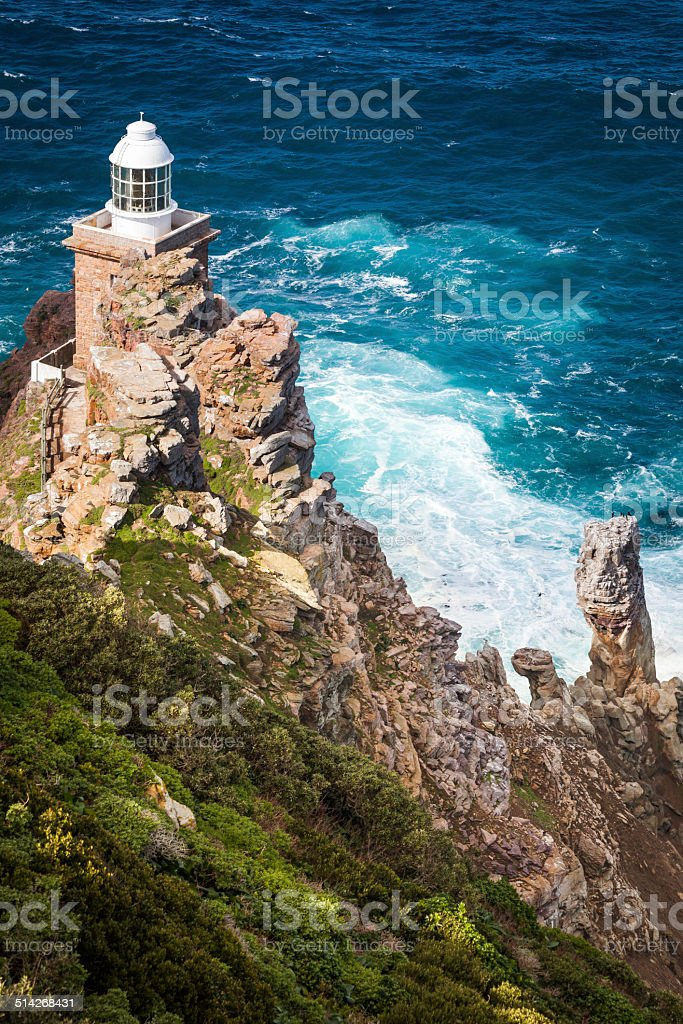The New Lighthouse of Cape Point stock photo