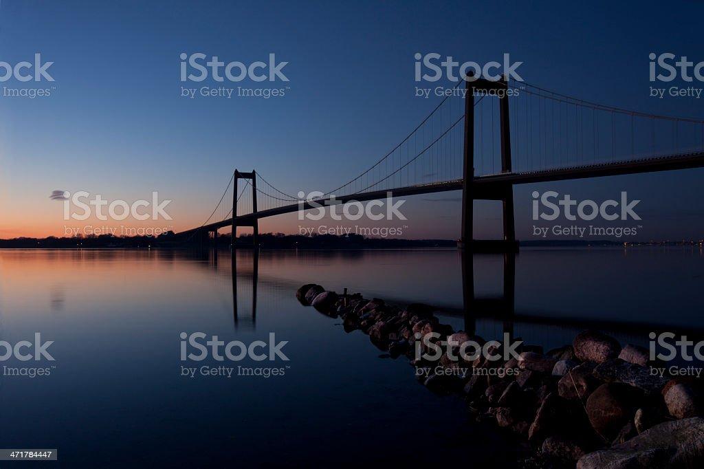 The New Little Belt Bridge in Denmark royalty-free stock photo