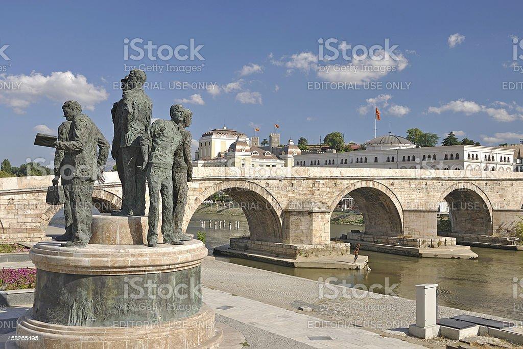 The new look of Skopje City, Macedona royalty-free stock photo