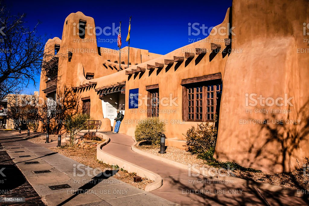 The New Mexico Museum of Art in Santa Fe stock photo